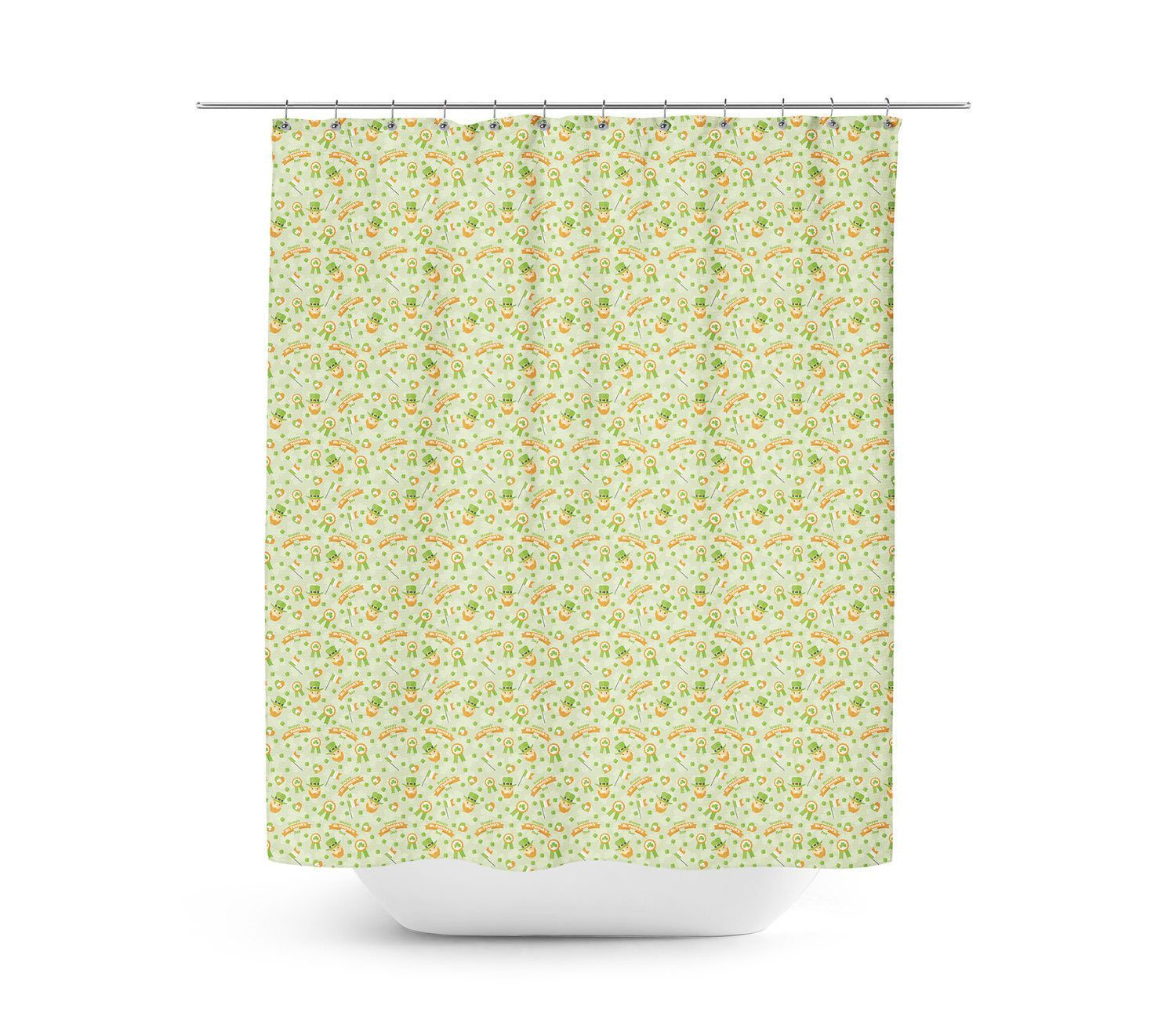 St Patricks Day Shower Curtain Unique In 4 Sizes For Any