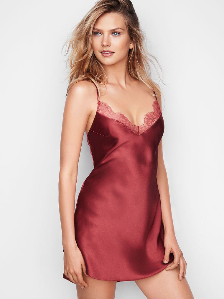 Beauty collection | Silk and satin chemise | Lace, Satin ...