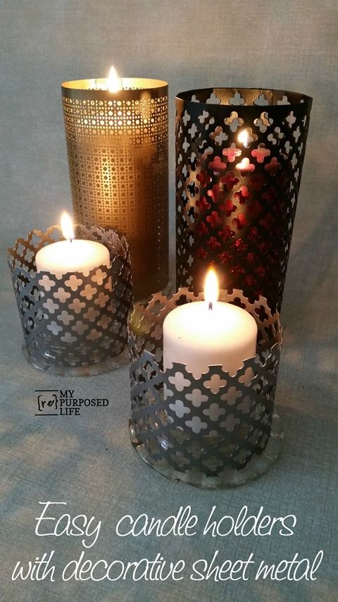 Make Your Own Decorative Sheet Metal Candle Lanterns. The Sheets Of Metal  Are Available At