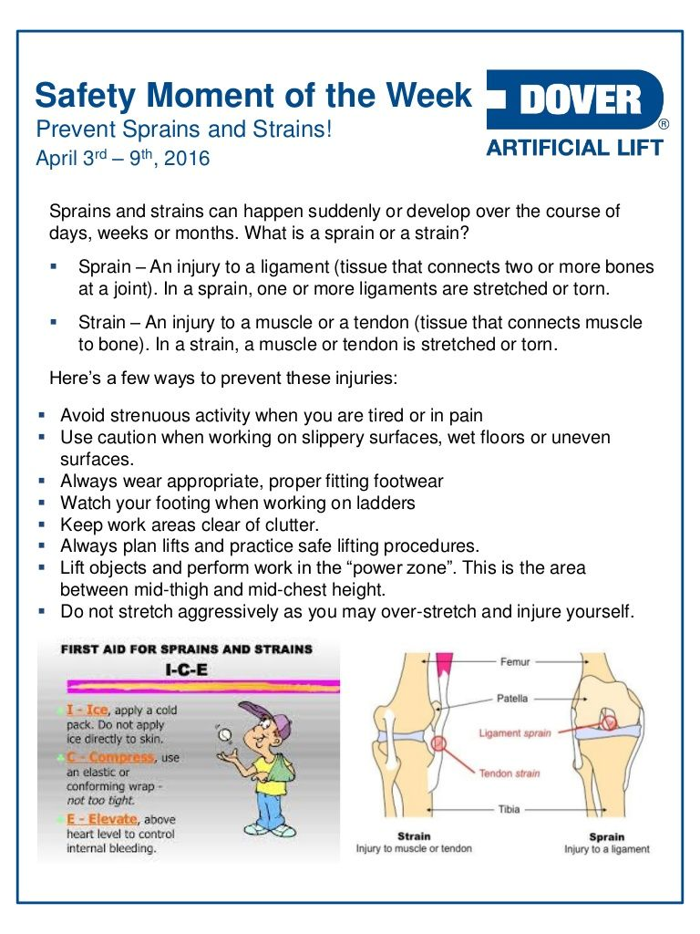 Prevent Sprains and Strains! Alberta Oil Tool's Safety
