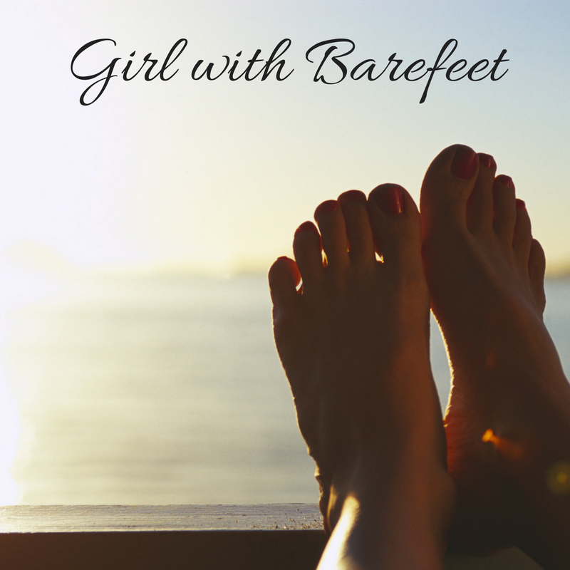 Girl with Barefeet - muddy toes tell stories