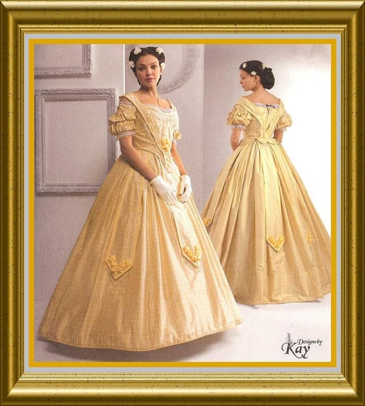 Details about Civil War Southern Belle dress 2Sew PATTERN Historical Simplicity 2881 sz 8-24 #dressesfromthesouthernbelleera