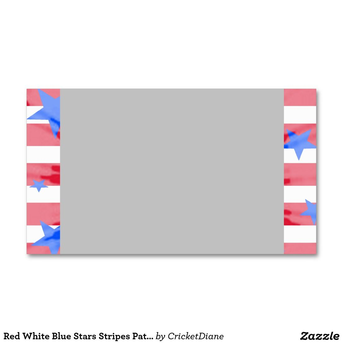 Red White Blue Stars Stripes Patriotic 2 Double-Sided Standard ...