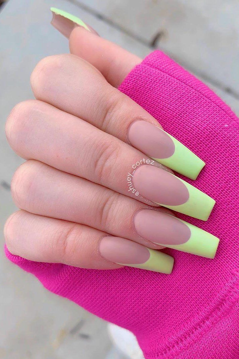 55 Trendy Colored French Tip Nails You Will Like In 2020 French Tip Nails Nails Nail Tips