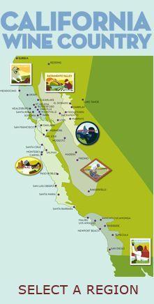 California Wine Country Map Wine Travel Pinterest California wine