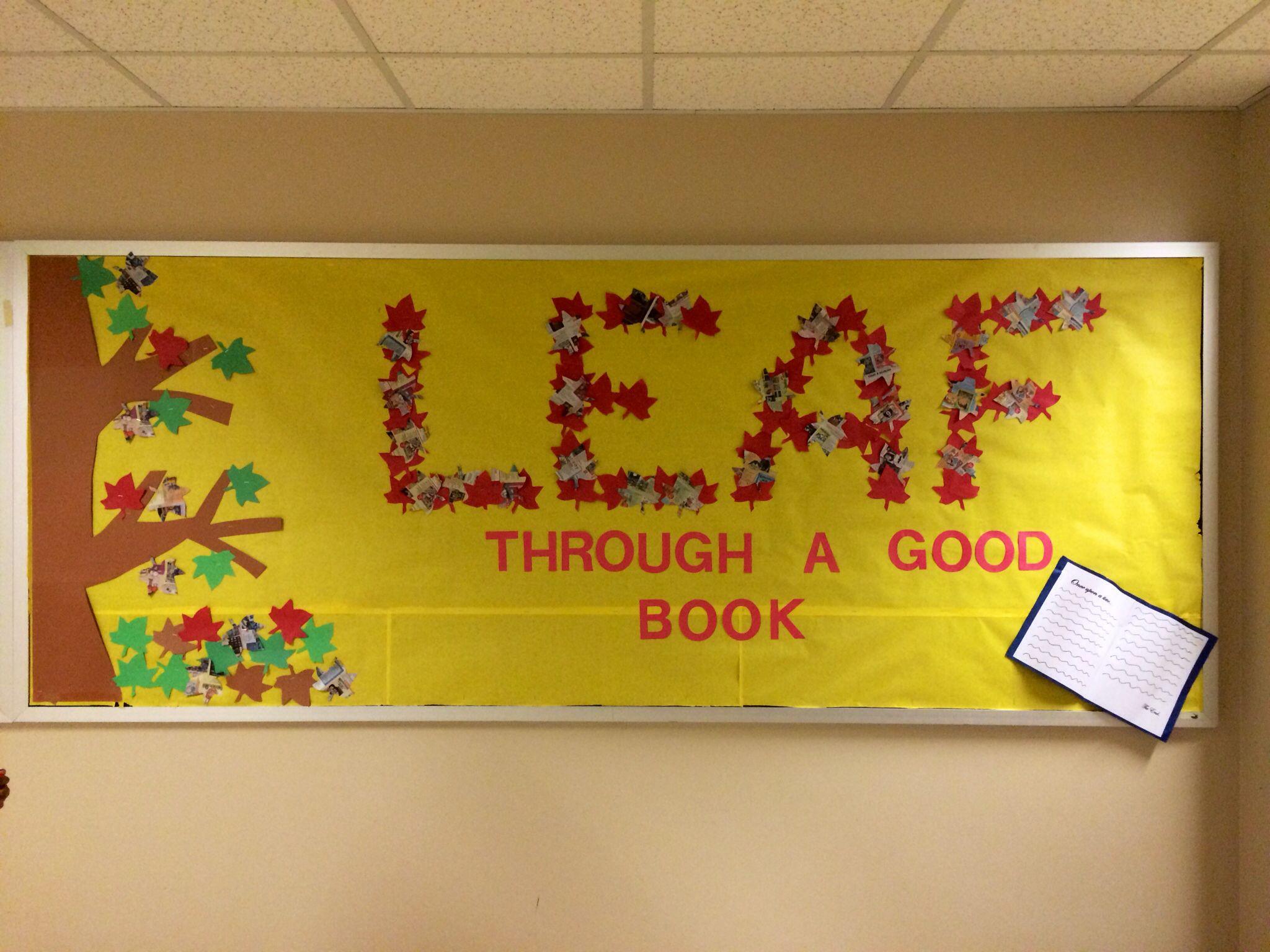 Fall themed reading bulletin board | Mrs. Lady | Pinterest ...