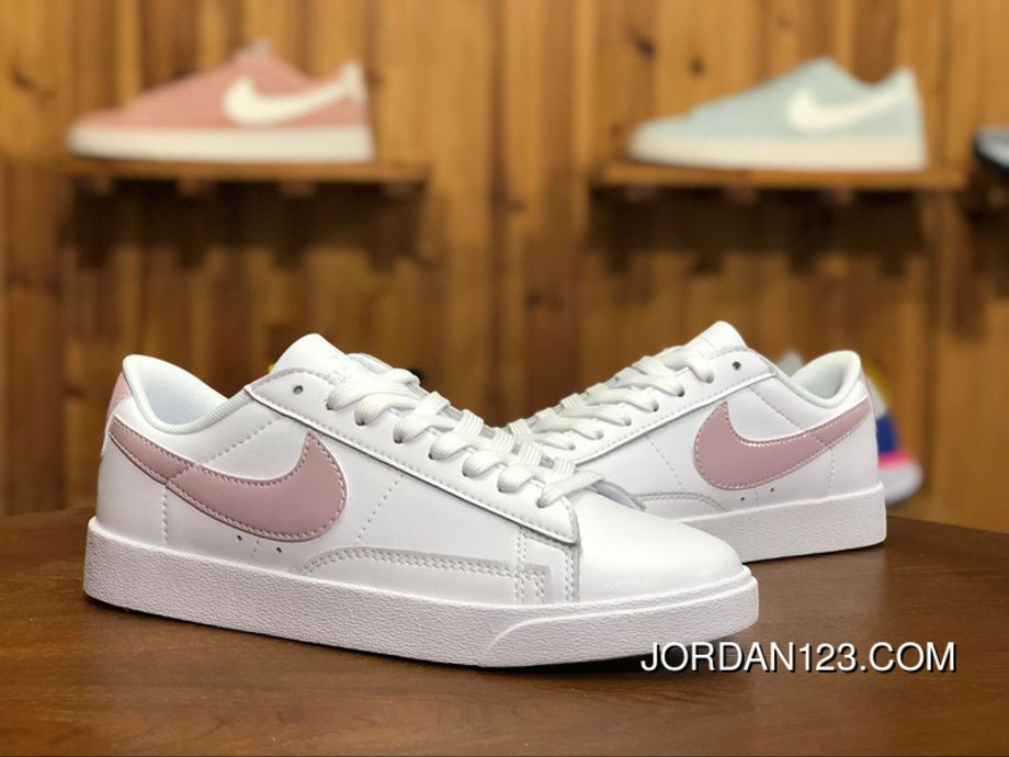 official photos 21b14 6a43b 150 Nike Blazer LOW LE White Pink Hook Blazer Women Retro Casual Sneaker  AA3961-105 Size Online