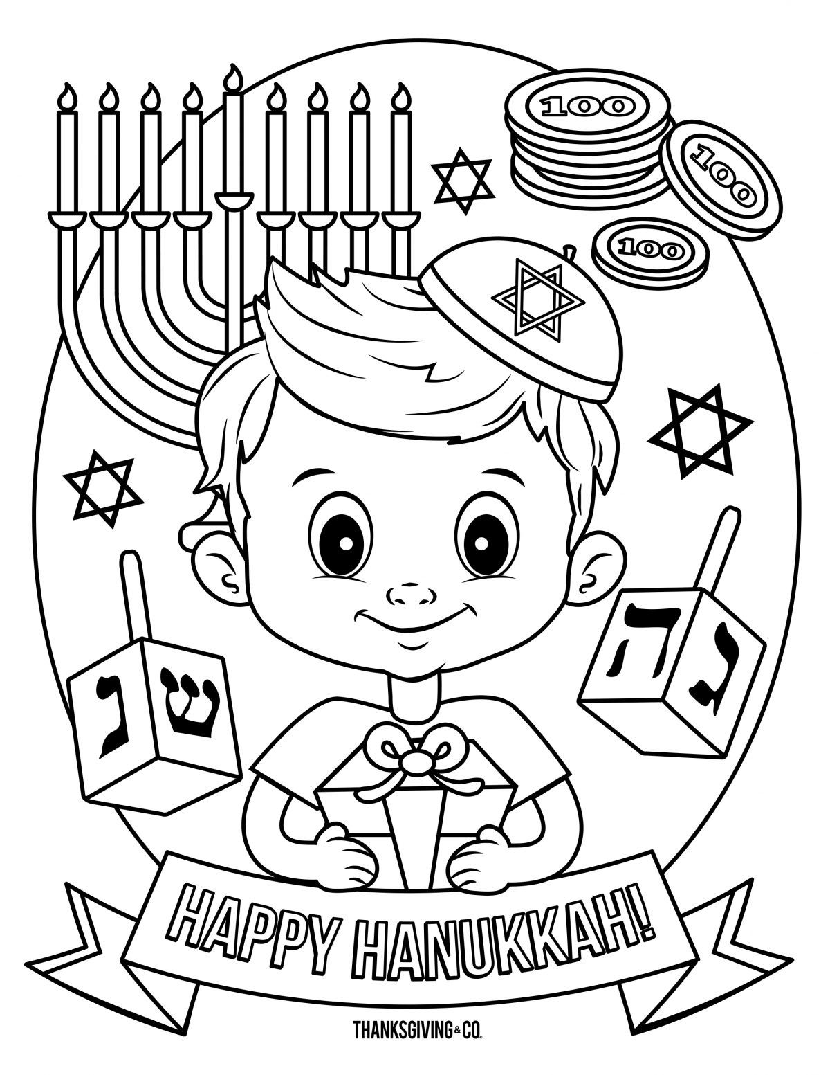 Grab your Fresh Coloring Pages Hanukkah Free , https//www