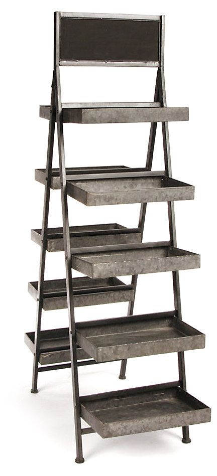 The perfect addition to your garden or patio, this stand boasts five tiers on both sides. Showcase your favorite florals in style.