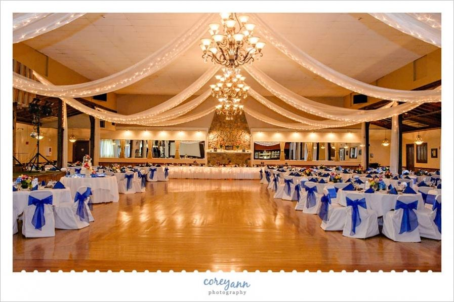 outdoor weddings near akron ohio%0A Blue Wedding at Springvale Ballroom in North Olmsted