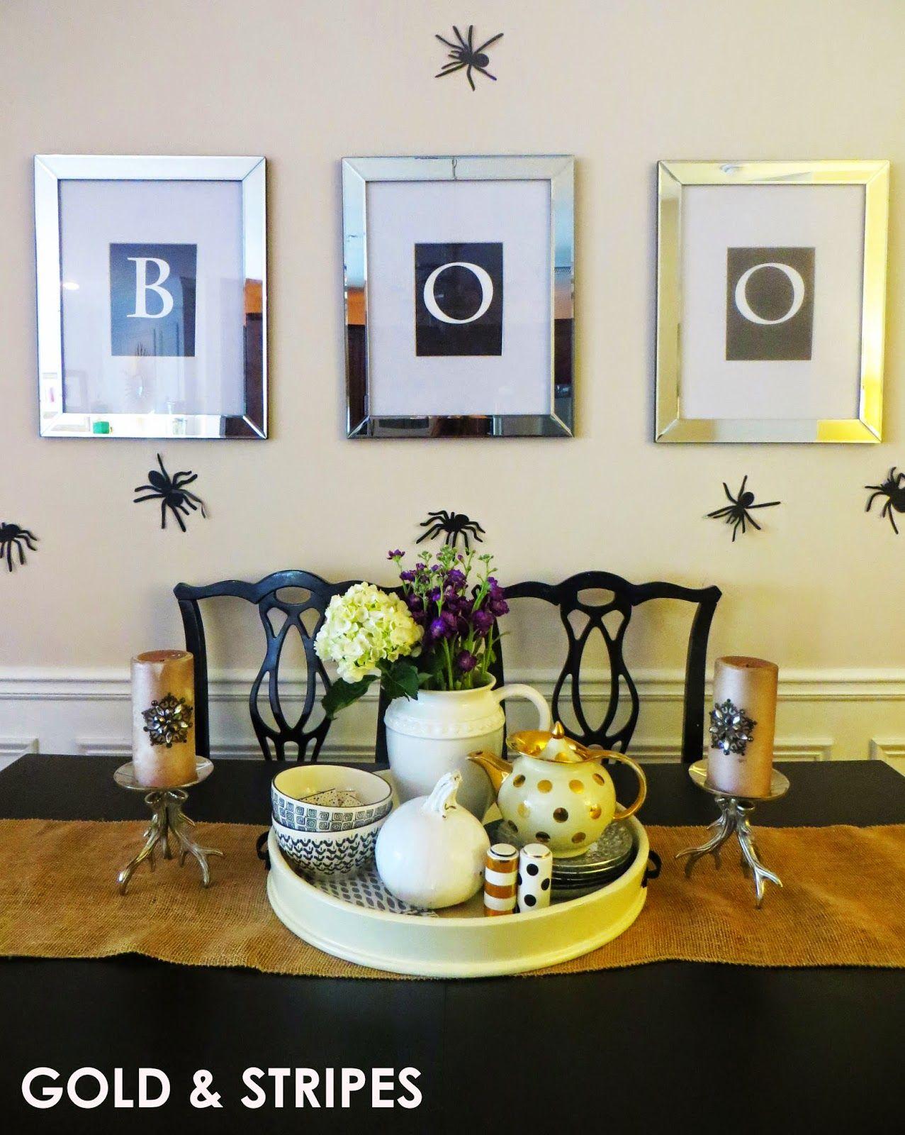 Classy Halloween Decor | Gold & Stripes DIY Design Blog ...