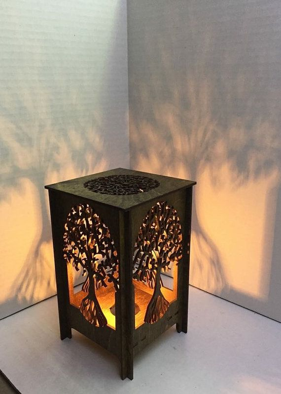 Mesa Corte Madera Table Lamp - Lamp - Desk Light - Laser Cut Wood Lamp