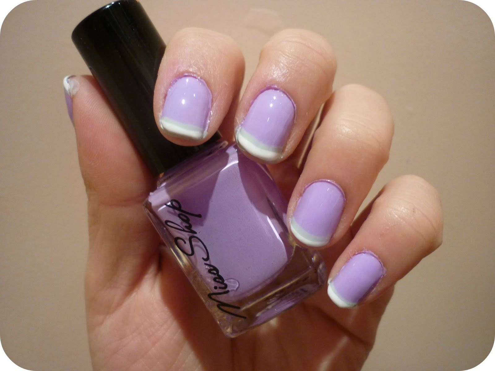 Colored french nail design - Taken By Surprise Double French Tips Nail Art Tutorial