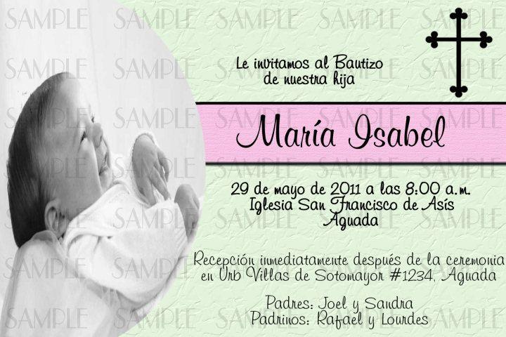 Boy Baptism Invitations Spanish