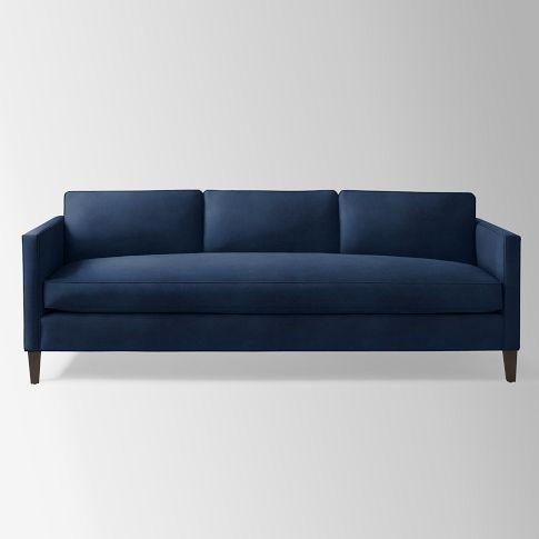 Dunham Down Filled Sofa Box Cushion West Elm In Navy