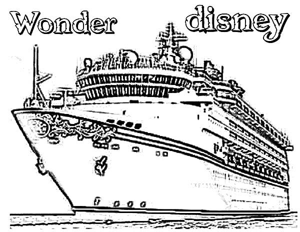 Wonder Disney Cruise Ship Coloring Pages Netart In 2021 Disney Cruise Ships Coloring Pages Cruise Ship