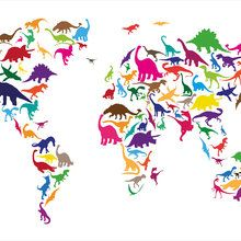 Wall mural dinosaur world map prints pinterest wall murals icanvas dinosaur map of the world map ii by michael tompsett graphic art on canvas gumiabroncs Image collections