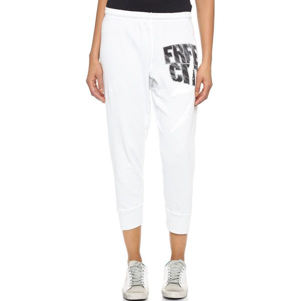 Freecity Light Blast Swami Sweatpants 145 Liked On Polyvore Featuring Activewear Activewear Pants Gesso C With Images Sweatpants Active Wear Pants White Sweatpants