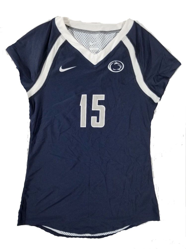 NIKE Women s Penn State  15 S S Volleyball Jersey Small Navy Blue  Nike   PennStateNittanyLions 5d9af6879