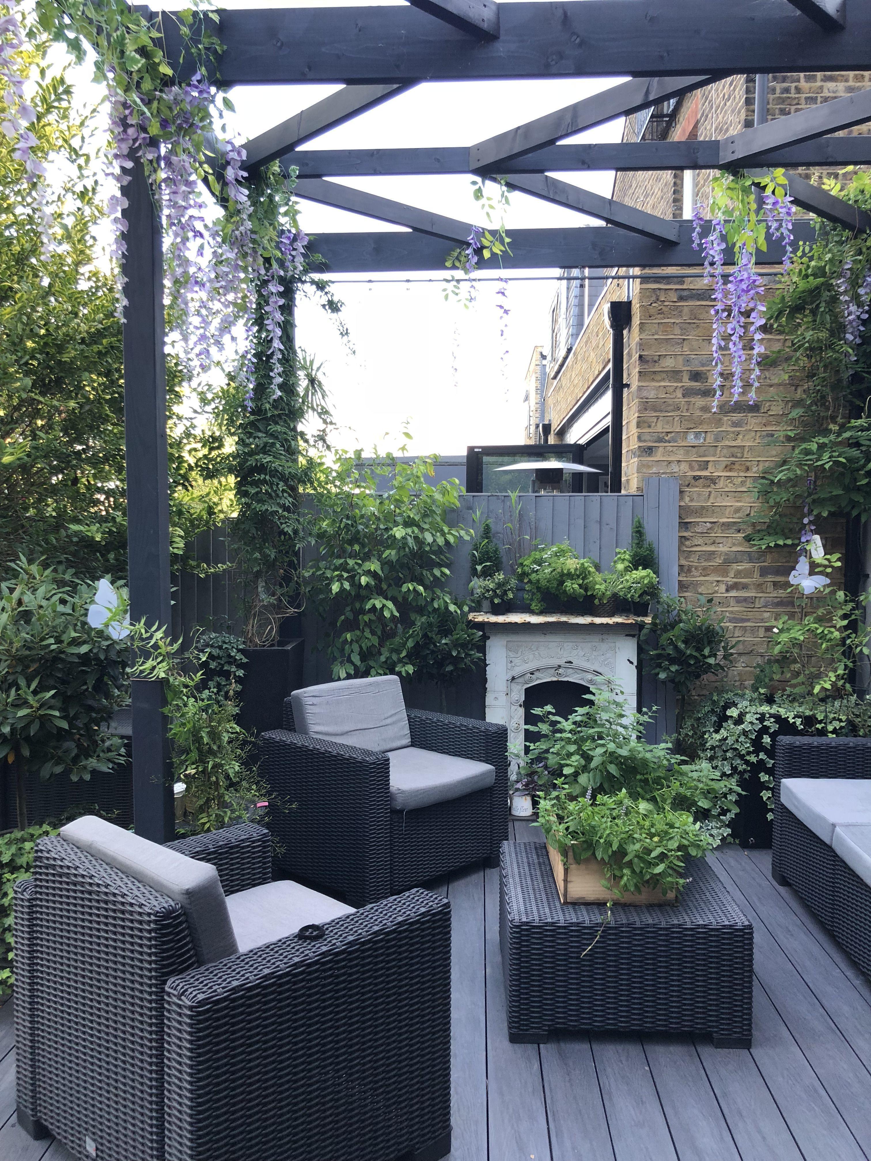 my outdoor patio deck area. outdoor living room. bringing ... on My Garden Outdoor Living  id=20795