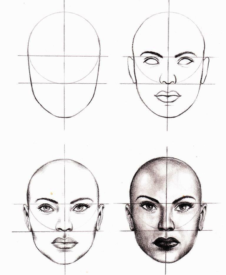 Drawing Scribble Face : Esquema facial dibujo a lapiz pinterest drawings