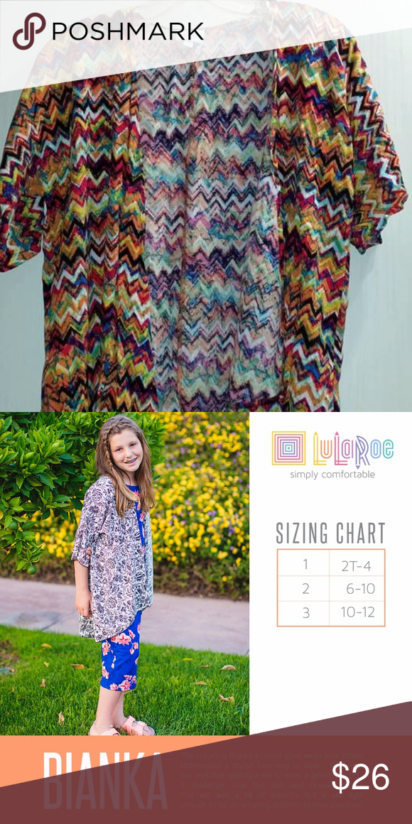 Bianka Size 30 Lularoe 3 From New Without Tags Very Vibrant Beautiful Colors See Chart Tops