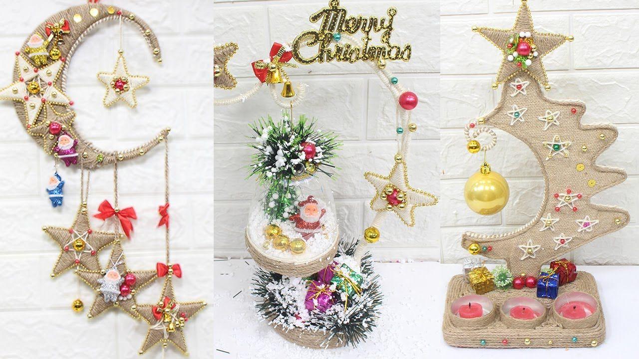 10 Jute craft Christmas decorations ideas Home