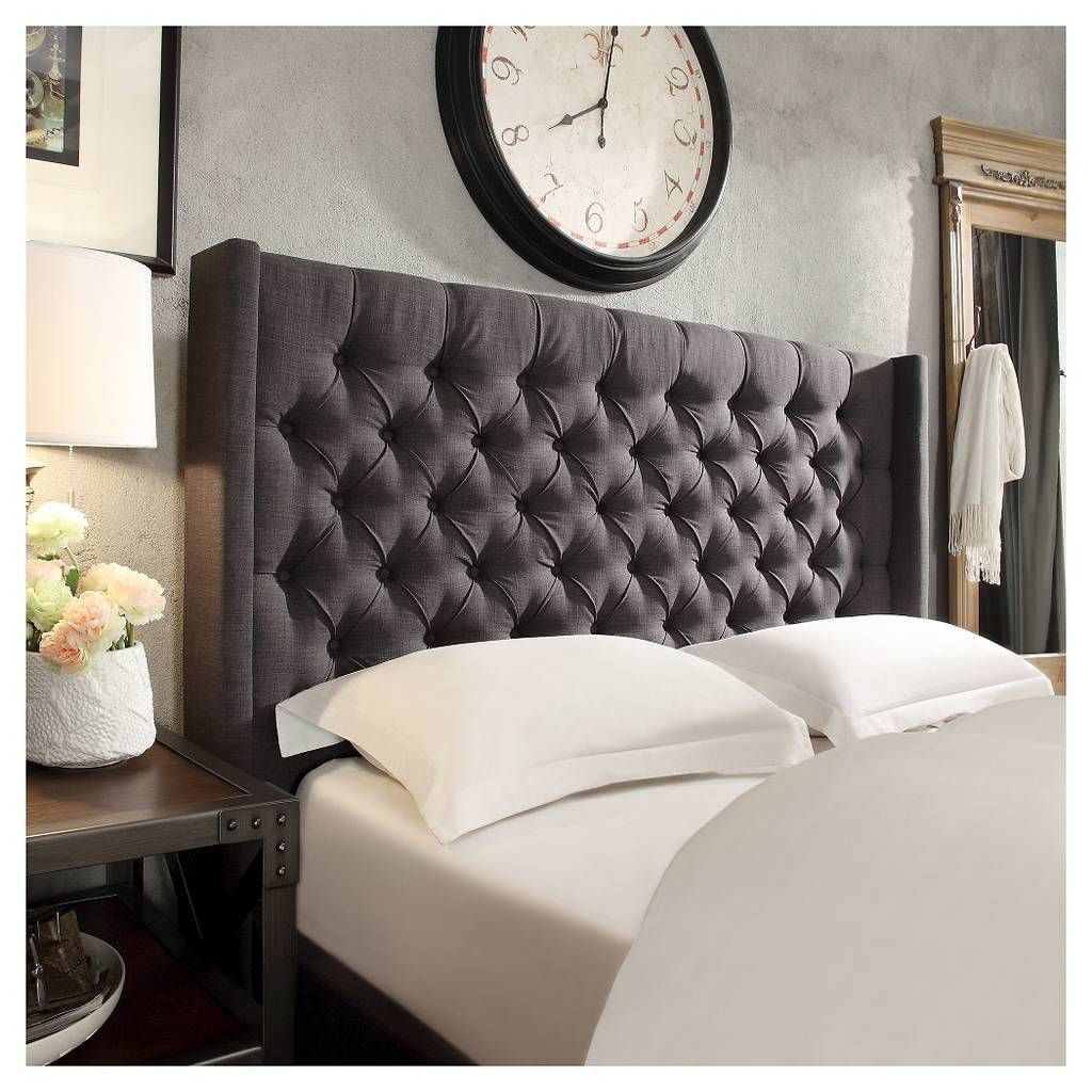 Highland Park Button Tufted Wingback Headboard - Inspire Q