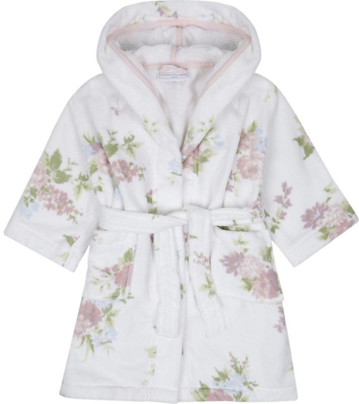 The Little White Company Winter Isabella cotton dressing gown ...