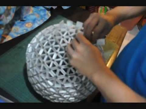 How To Make Your Own Spherical TetraLamp Shade ( Part 2 of 2 - Lamparas Caseras
