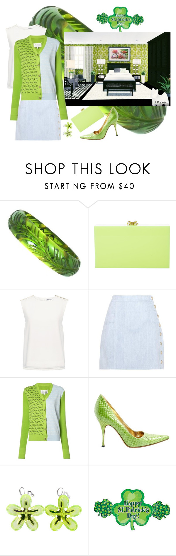 """""""Don't get pinched this year!!!!!"""" by sandjpopescu ❤ liked on Polyvore featuring Charlotte Olympia, Finders Keepers, Balmain, Maison Margiela, Dolce&Gabbana and Dsquared2"""