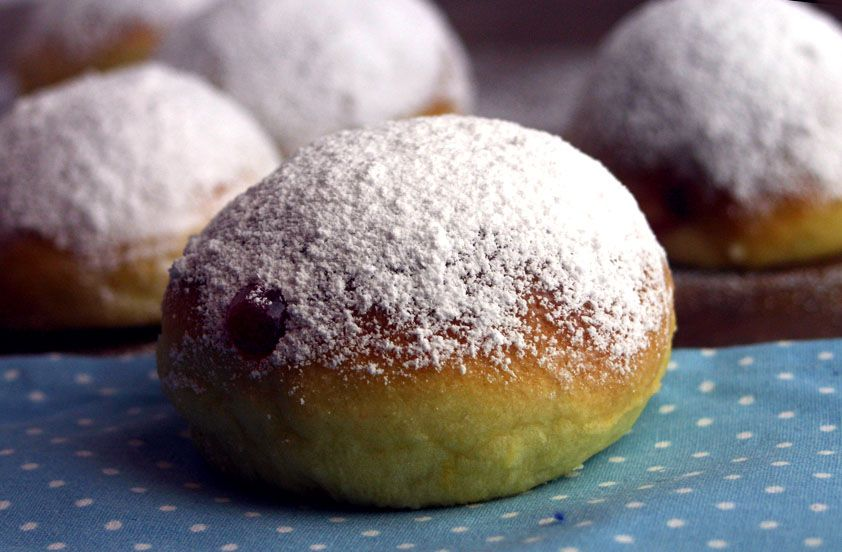 Krapfen aus dem Backofen / Homemade Low Fat Jelly Donuts
