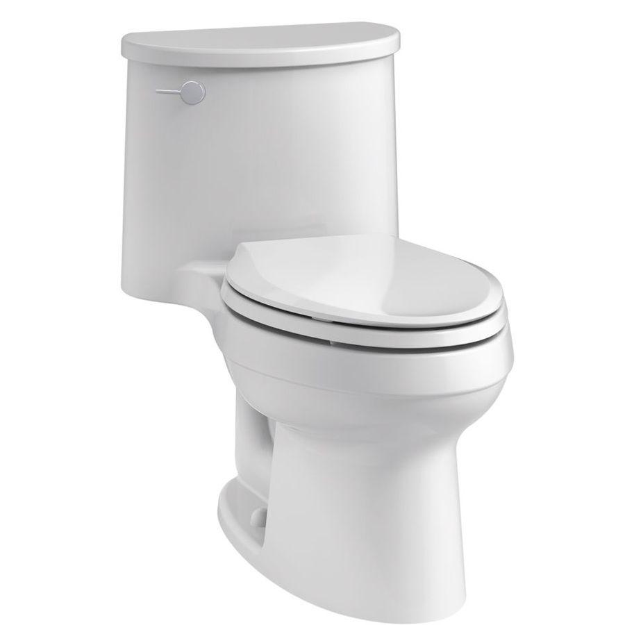 Kohler Adair White 1 28 Gpf 4 85 Lpf 12 Rough In Watersense Elongated 1 Piece Comfort Height Rear Outlet Toilet Kohler Toilet Accessories Toilet