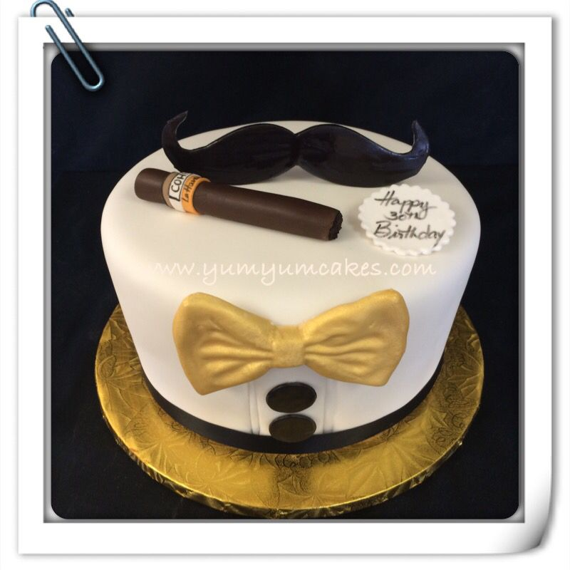 Toxedo Cuban cigar cake | Other cakes | 30th birthday cupcakes ...