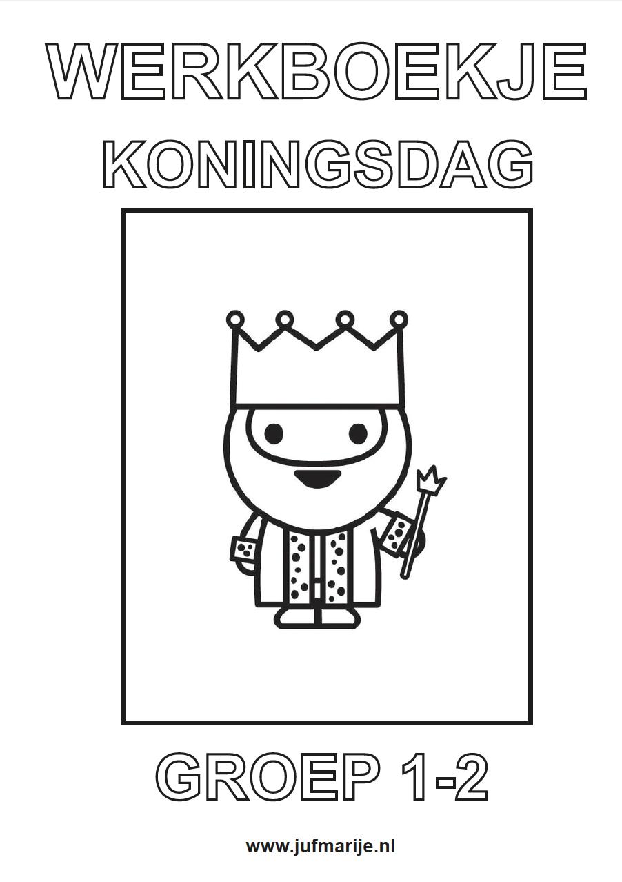 Koning Middeleeuwen Kleurplaat Werkboekje Koningsdag School Idee 235 N School En Lesidee 235 N