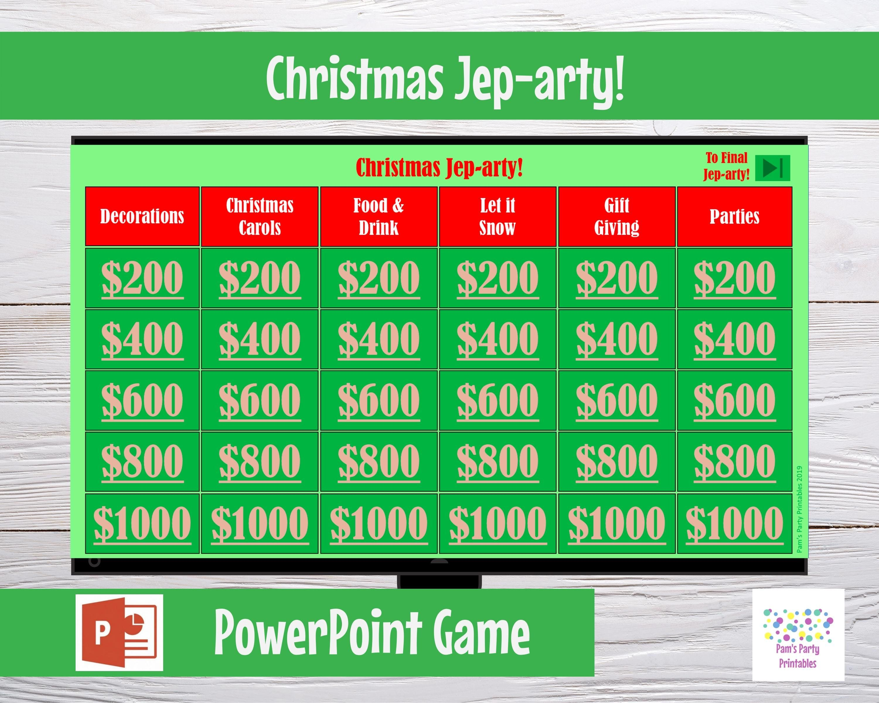 Christmas Jeparty! Interactive PowerPoint Game