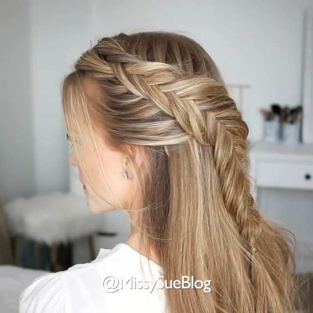 Cute And Easy Braided Hairstyle For Long Hair In 2020 Hair Styles Long Hair Styles Easy Hairstyles