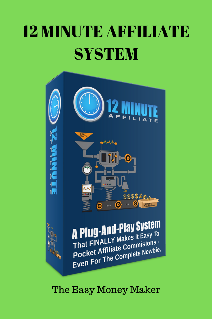 Buy Affiliate Marketing  12 Minute Affiliate System Used Sale