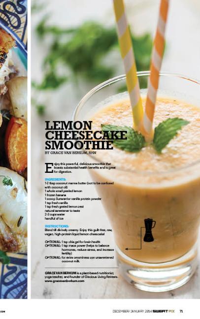 Raw vegan lemon cheesecake smoothie recipes