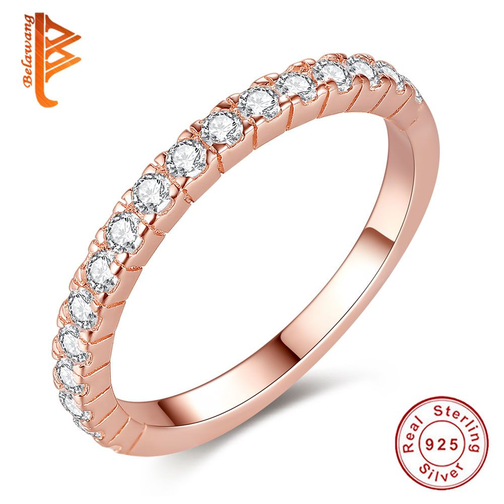 Engagement rings for women rings sterling silver rose gold color