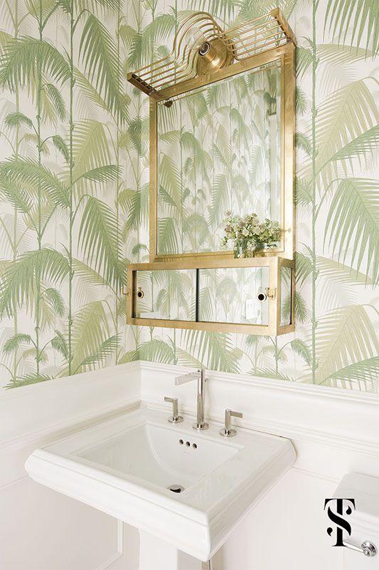 Papel de pared para revestir las paredes del baño Baños