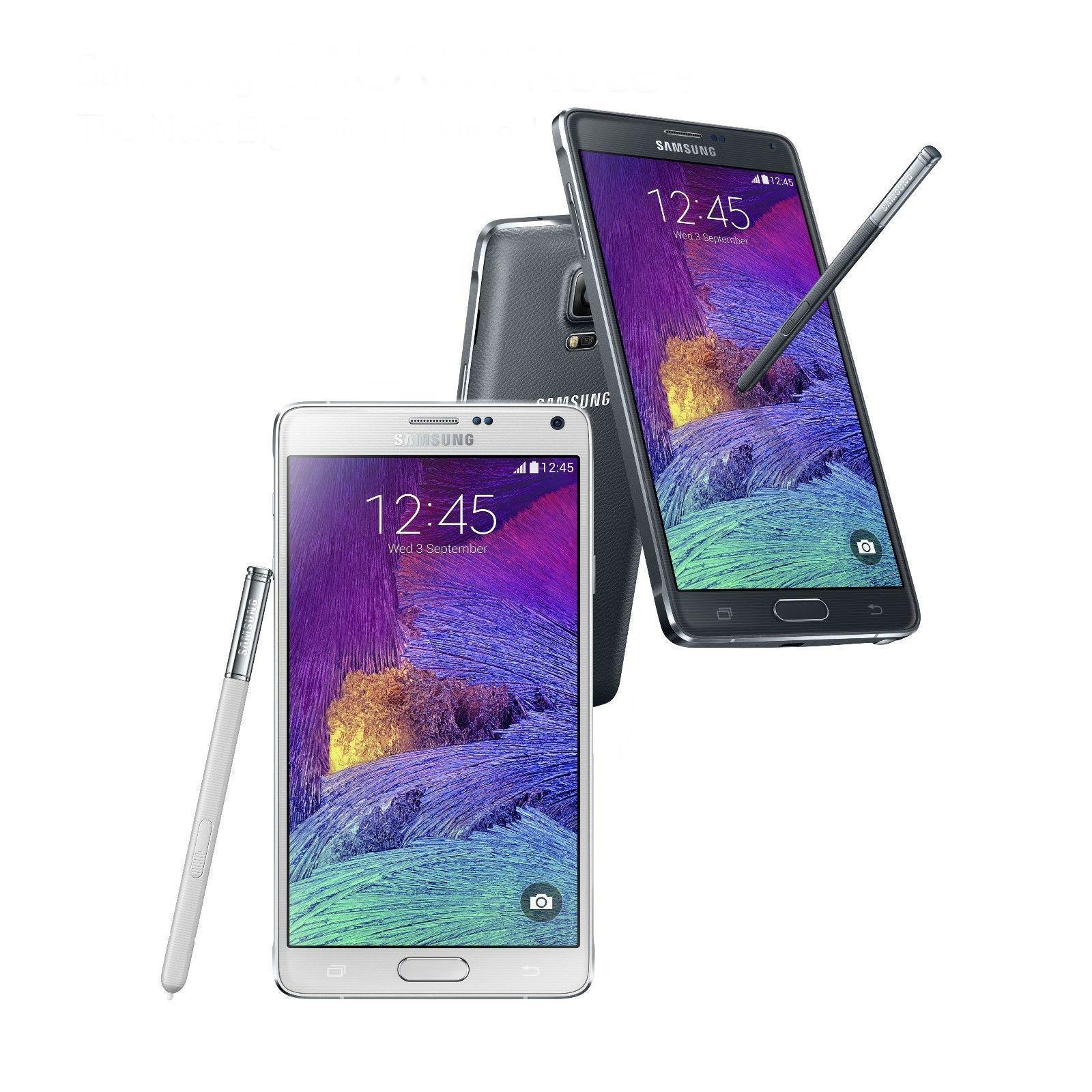 Samsung Galaxy Note 4 N910 32GB GSM Unlocked Black & White SHADOW