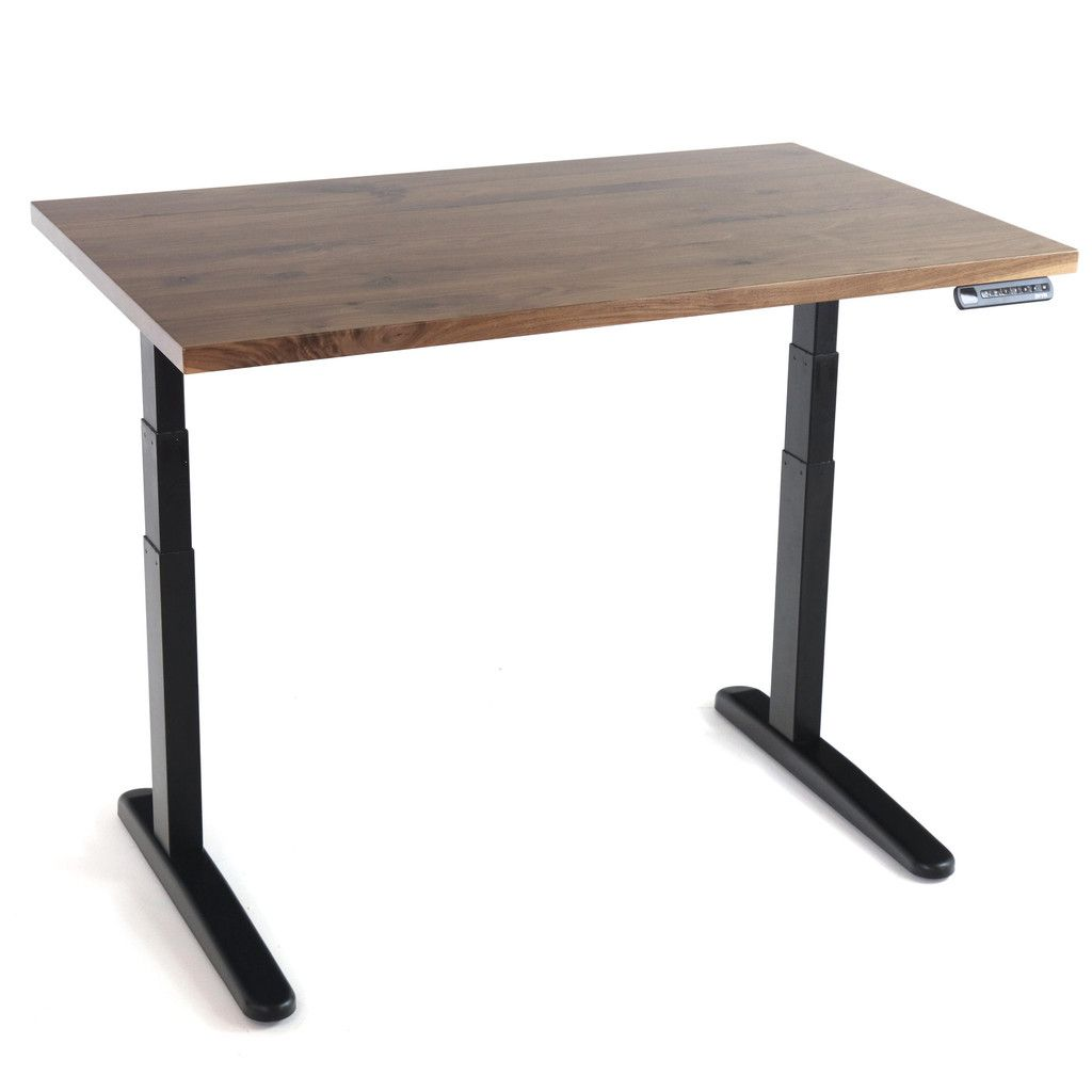 Hardwood Slab Desk Solid Wood Tops Ft The Jarvis Electric