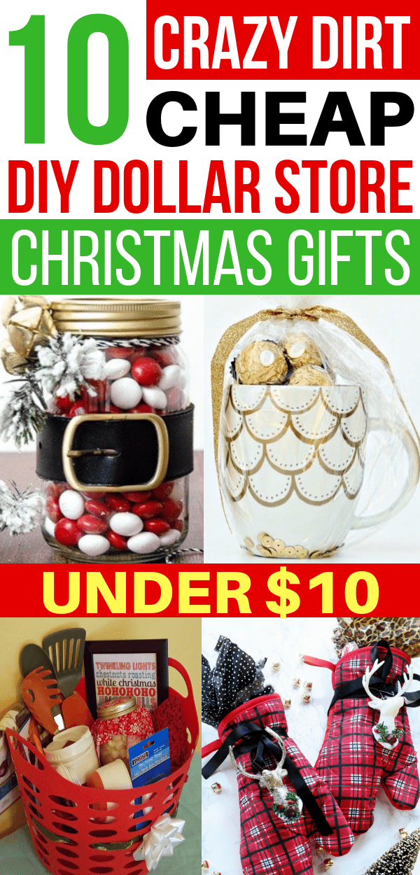 DIY cheap Christmas gifts from the Dollar Tree THAT are so