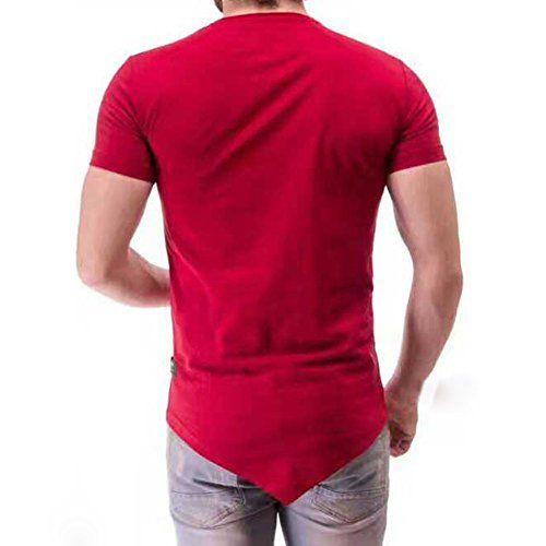 731ba558 ONTTNO Men's Short Sleeve Hipster Hip Hop Basic Curved Hem T-Shirt #tshirts  #tees #mens #fashion #apparel #clothing