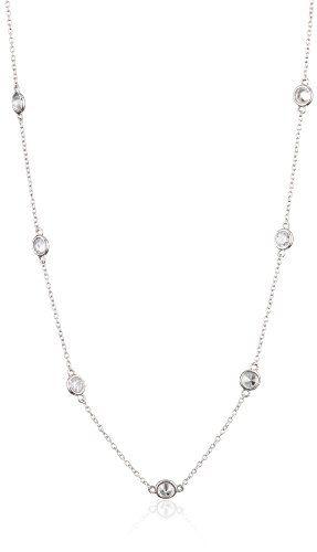 605bfc658 Myia Passiello %22Infinity%22 Swarovski Zirconia Round Necklace ...