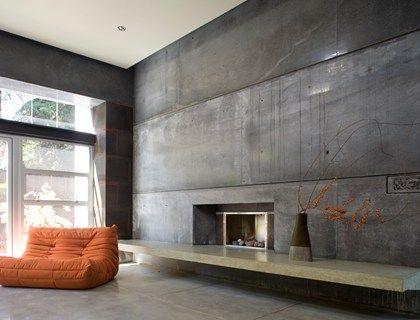 House 6 Video Tour The Concrete Network Concrete Walls Interior Concrete Interiors Fireplace Surrounds