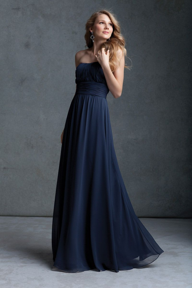 Cloumn Strapless Girdling Long Black Prom Dresses | Dresses ...