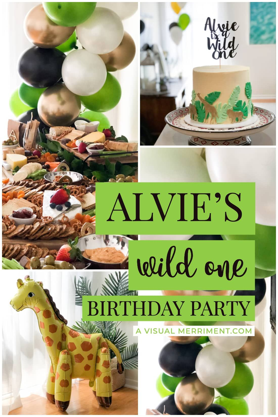 Alvies Wild One Birthday Party | My nephews first Birthday with a safari wild one theme | A Visual Merriment #safari #kidsparties #boysparty #partytheme #diyparty #partyplanning #diypartyideas