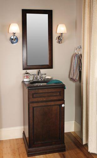 Hawthorne Maple Sienna Charcoal Modern Bathroom Cabinets